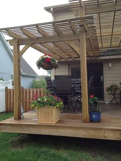 Love the deck. And the awning is perfect for passionflower vines