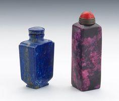 Two Gemstone Snuff Bottles