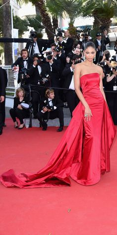 The Best of the 2015 Cannes Film Festival Red Carpet - Chanel Iman from #InStyle