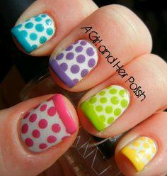 Poke-a-dot nail art