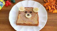 Cute Bear Bread on Quick Dish, teddy bear, bear, bear bread, teddy bear picnic, teddy bear sandwich, sandwich, kids, kid food