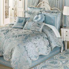 "lunamiangel: ""Regency Comforter Set Parisian Blue 💙 "" Spring blue comforter"