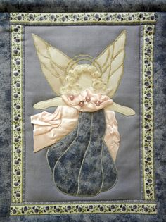Ulla's Quilt World: Angel wall hanging quilt