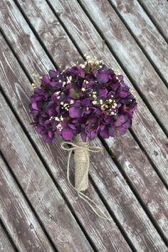 Rustic Hydrangea Bouquet, Silk Wedding Flowers, Bridesmaid Bouquet, Vintage Wedding, Rustic Wedding, Peacock Wedding, Bridal Bouquet, Bride on Etsy, $45.00