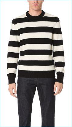 Rag & Bone Black and White Striped Sweater