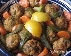 Tajine de boulettes de merlan aux légumes - Ma fleur d'oranger