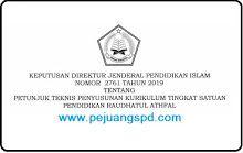 Juknis Penyusunan KTSP RA (SK Dirjen No. 2761/2019)