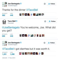 And finally, when Joe thanked Taco Bell. | 16 Customer Complaints That Are Way Funnier Than They Should Be