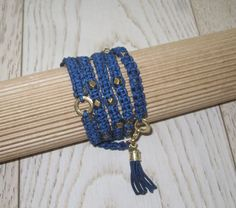 Wrap bracelet Macrame Bracelets Long Bracelet Handmade