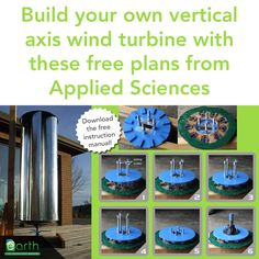 Are you a DIYer? Then DIY yourself some renewable energy with these free plans for a vertical axis wind turbine, thanks to Applied Sciences. Download the instruction booklet here: ...