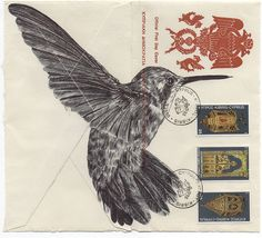 Birds Illustrated on Vintage Envelopes by Mark Powell paper illustration birds