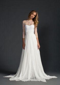 White lace polka dot dress @graceloveslace