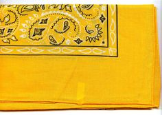 ONE Economy Paisley Bandana. SUNFLOWER GOLD. by intothewoodscharms, $1.56