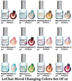 "Color And Mood mood"" gel polish, changes colors depending on temperature"