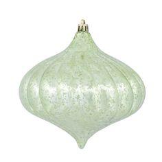 "Vickerman 6"" Celadon Shiny Mercury Onion Ornament"