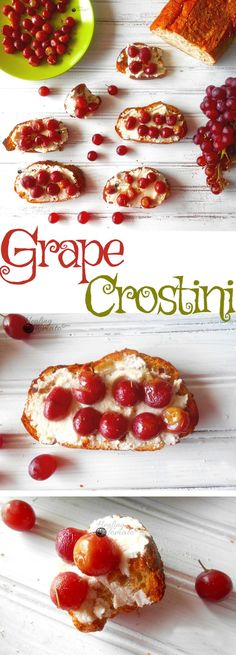 If you are looking for a quick appetizer, roast grapes and put them on a crostini.  This easy appetizer comes together in a few minutes and is perfect summer time quick snack. The secret to the taste is the garlic