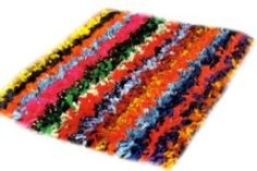 Rag Rug DIY Craft Project ... My sister is making one of these out of old tshirts and it is super thick and soft!