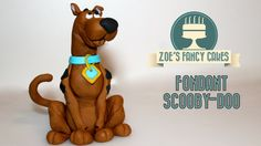 Scooby-Doo fondant cake topper tutorial - In this scooby-doo cake topper video tutorial I show you how to make a fondant Scooby-Doo to decorate your cakes wi...