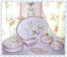 Tea Cottage Pretties: #21-25 LIMOGES VANITY SET