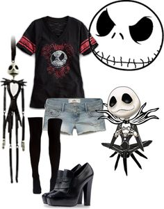 """Jack Skellington"" by lazek-julia ❤ liked on Polyvore"