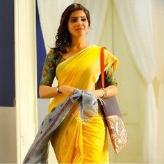 Here are some of the coolest pics of saree plus watch. Samantha In Saree, Samantha Ruth, Beautiful Saree, Beautiful Indian Actress, Beautiful Women, Western Girl Outfits, Samantha Images, Babe, Simple Sarees