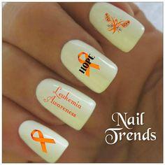Leukemia Awareness Vinyl Nail Stckers