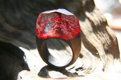 Wooden ring Volcano GreenWood by StoreGreenWood on Etsy