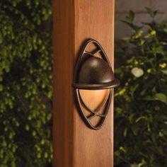 Kichler 15469TZT Textured Tannery Bronze Cathedral Low Voltage Deck Patio Light   eBay