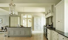 Things We Love: Bespoke Kitchens - Design Chic - Things We Love: Bespoke Kitchens Martin Moore and Company We're assuming the fridge is hidden - Kitchen Interior, Beautiful Kitchens, Kitchen Projects, Kitchen Flooring, Bespoke Kitchens, Bespoke Kitchen Design, Country Kitchen, Home Kitchens, Timeless Kitchen