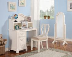 Acme Furniture - Ira 4 Piece Youth Desk Set in Ivory - 30152-4SET