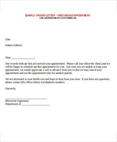 Missed Appointment Letter Template   6+ Free Word, PDF Format Download! |  Free