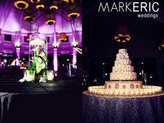 beautiful cake and uplighting