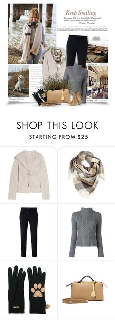 """""""Keep Smiling"""" by thewondersoffashion ❤ liked on Polyvore featuring See by Chloé, BP., Etro, Polo Ralph Lauren, Moschino, Fendi and Aquazzura"""