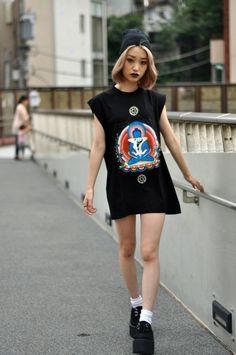 Killer style with an attitude to match     |   #cassylondon #tokyothrift