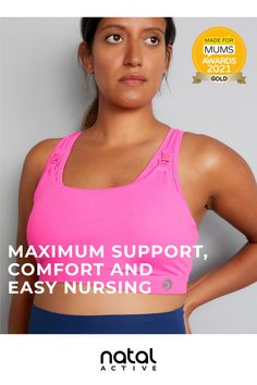 Nursing Sports Bras that fit like a dream and provide maximum support, comfort and easy nursing. Now also available in large cup sizes as well as a range of designs and colours for your stylish pregnancy workout. Maternity Sports Bras, Nursing Sports Bra, Maternity Nursing, Stylish Pregnancy, Stylish Maternity, Maternity Activewear, Nursing Clothes, Fitness Activities, Pregnancy Workout