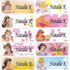 40 Princess Custom Name Labels-School,Daycare,Camping (Buy 5 Get 1 Free)