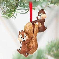 0e0cba0232f309 New Disney Store Chip An  Dale Chipmunk Peanut Christmas Holiday Ornament  2012