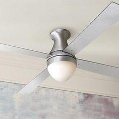 """52"""" Ball Hugger Aluminum Finish w/ Light Ceiling Fan"""