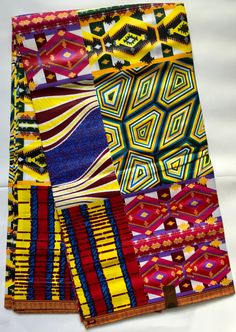 This African print is 100% cotton wax print and it is machine washable. This fabric is perfect for any number of uses from creating the perfect African-inspired Midi skirt, to custom pillows, bold jewelry, and much, much more. African print is in style around the world so dont limit your options! Wax fabric has a characteristic stiffness to it so please be sure to wash before using if you would like the fabric to become softer. Sold by the Yard Width: 46 ins Main colors: White, Yellow…