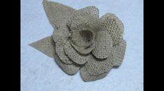 #DIY Como hacer  una flor de yute o arpillera #DIY How to make a flower ...