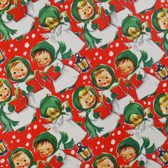 Caroling Angels - Vintage Gift Wrap
