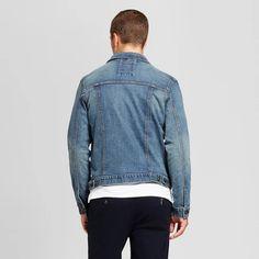 4d7de9769a30 Men s Standard Fit Denim Trucker Jacket - Goodfellow   Co™ Blue