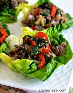 Factors You Need To Give Thought To When Selecting A Saucepan Moo Shu Beef Lettuce Cups - A Simple, Healthy And Super Delicious Recipe Weight Watchers-Friendly. Pork Recipes, Asian Recipes, Cooking Recipes, Healthy Recipes, Ethnic Recipes, Ww Recipes, Chinese Recipes, Healthy Appetizers, Healthy Meals