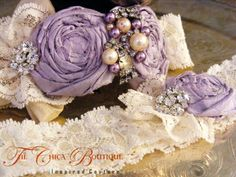 Bridal Garter Set Ruffles and Lace Design 3 by TheChicaBoutique, $70.00