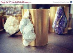 Gold Gemstone Cuff #jewelry #accessories #cuffs #armcandy #wristpile #boho #bohemian #tribal #etsy