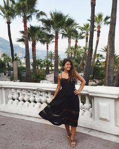 Mimi Ikonn Preggo Style Mimi Ikonn pregnant Black Dress Evening South of France Travel