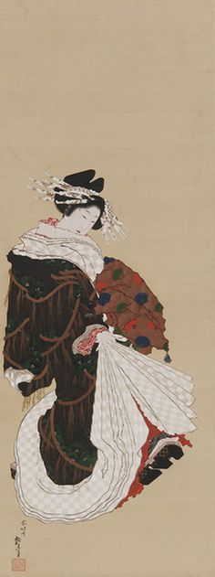 Japanese Art | Portrait of a Courtesan Walking | F1954.119