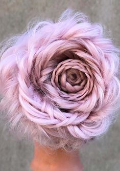 Awesome Braided Pink Hairstyles for 2018, looking like flower