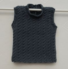 MADE TO ORDER  Baby boys tank/vest/top/jumper hand by TradKnits