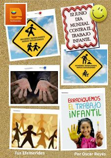 Tus Efemérides: 12 de Junio día Mundial Contra el Trabajo Infantil